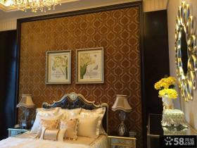 欧式风格卧室床头背景墙效果图