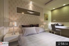 卧室床头背景墙壁纸效果图欣赏