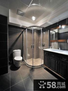 时尚现代别墅室内卫生间设计效果图片