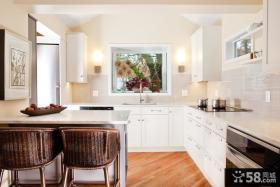 欧式厨房吧台装饰效果图