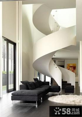现代三层别墅楼梯装修设计