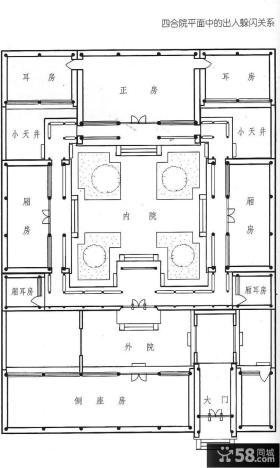 四合院户型平面图