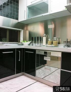简欧厨房橱柜装修效果图片欣赏