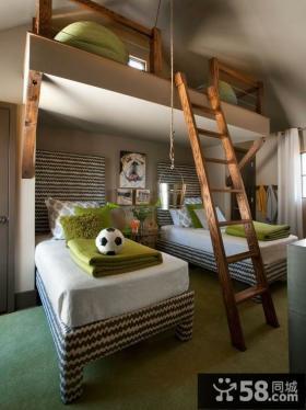 复式儿童房装修效果图 儿童卧室装修效果图