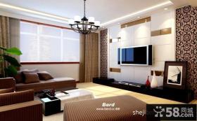 80平米小户型客厅效果图 简约大方的电视背景墙