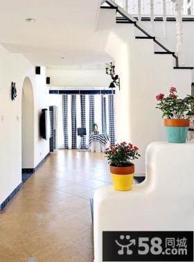 地中海风格创意楼梯效果图