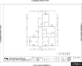 别墅二层平面户型图
