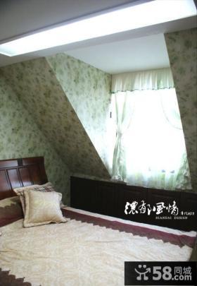 阁楼小卧室壁纸装修效果图2013