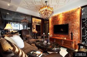 美欧风格客厅装修电视背景墙欣赏