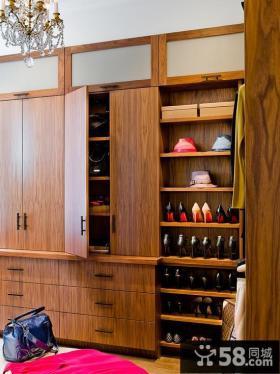 高档胡桃木鞋柜设计