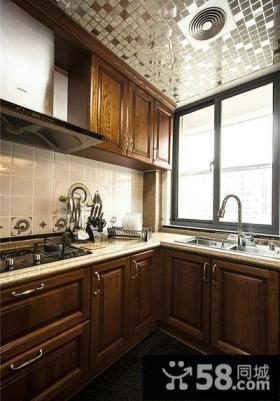 美式装饰厨房橱柜
