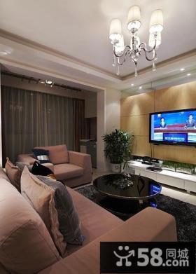 时尚设计客厅电视背景墙