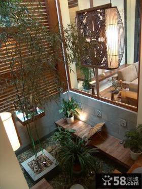 中式风格室内阳台装修设计