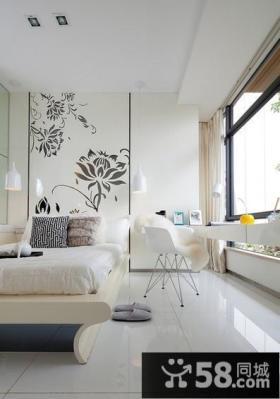 现代简约风格卧室背景墙效果图