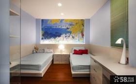 美式双人房卧室家居设计装修效果图