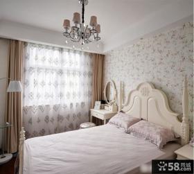 欧式卧室田园窗帘效果图