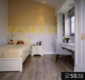 复古简欧别墅卧室设计装饰效果图