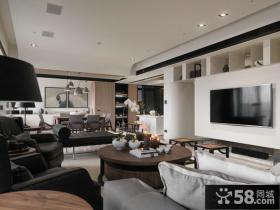 简约风格客厅电视背景墙设计图
