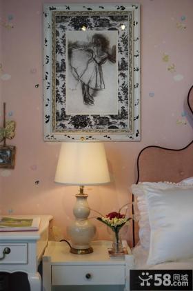 美式新古典风格卧室床头灯具效果图