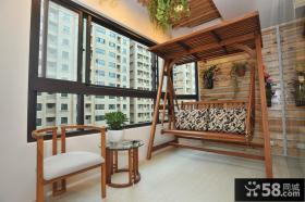 现代风格室内阳台装修效果图欣赏