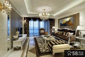 欧式新古典风格客厅吊顶装修效果图欣赏