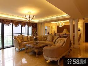 欧式风格两室两厅客厅装修图