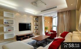 现代简约风格小户型家庭装修电视背景墙