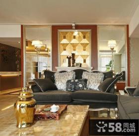 欧式风格客厅隔断装修效果图片