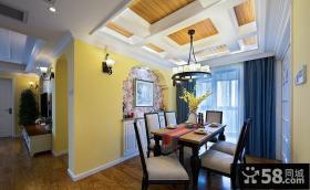 美式地中海风格家居餐厅装饰设计案例图片