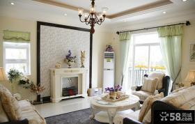 欧式田园风格小户型客厅装修效果图2014