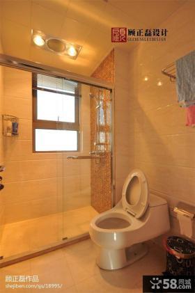 时尚现代风格卫生间浴室玻璃门图片