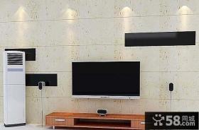简约3D电视背景墙装修图