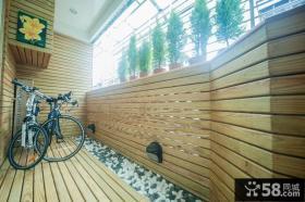 简约阳台实木装饰设计图片