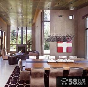 美式风格装修图片 美式别墅装修餐厅吊顶图片