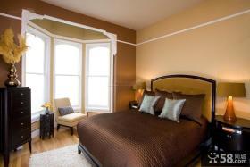 美式古典风格卧室飘窗图片