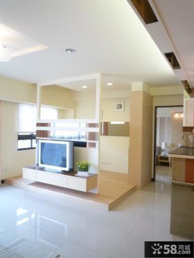 简易设计客厅电视背景墙欣赏