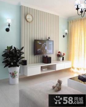简约电视背景墙壁纸装修效果图大全2013图片
