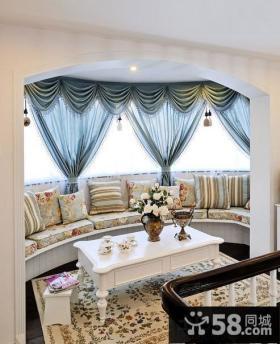 室内休闲区大飘窗效果图