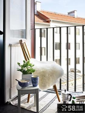 瑞典时尚三室两厅阳台装修效果图设计