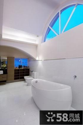 现代风格别墅精致卫生间浴室装修效果图