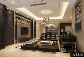 优质现代客厅液晶电视背景墙装修效果图