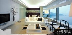 中式客厅电视背景墙海景房装修