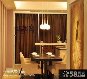 小户型小餐厅吊灯装饰图片
