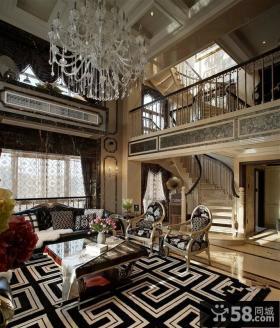 新古典风格别墅大厅装修效果图