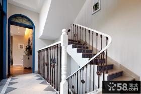 地中海风格别墅室内楼梯设计效果图