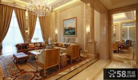 奢华欧式客厅水晶灯具图片