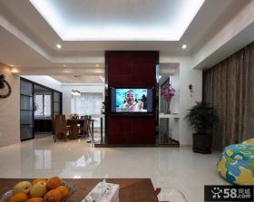 瓷砖电视背景墙隔断装修效果图