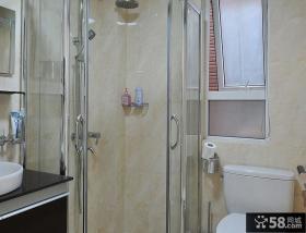 现代风格瓷砖卫生间玻璃浴室装修图