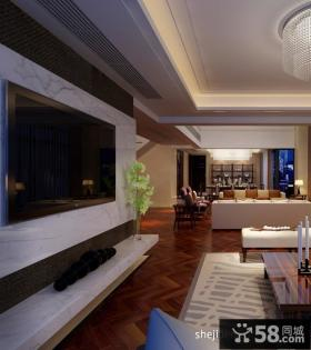 客厅电视背景装修设计