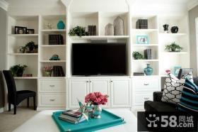 欧式现代客厅电视背景墙装修效果图大全2012图片